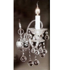 Murano Glass 1 Light Crystal Drop wall lamp.