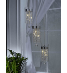 Hanging Glass Tiered Modern Cylinder Pendants.