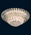 21 Light Crystal Ball Flush Fitting Chandelier