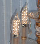 LED Candle Bulb with Flame Tip