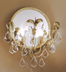 Specchio Design 2 Light Wall Lamp with Mirrored Back