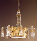 Eyes Design Chandelier is hand decorated with crystal