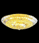 Surface Mounted Elegant 21 Light Crystal Chandelier