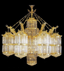 Cylinder shaped elegant crystal chandelier