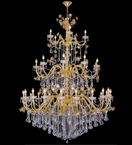 Neoclassical style tiered crystal drop chandelier